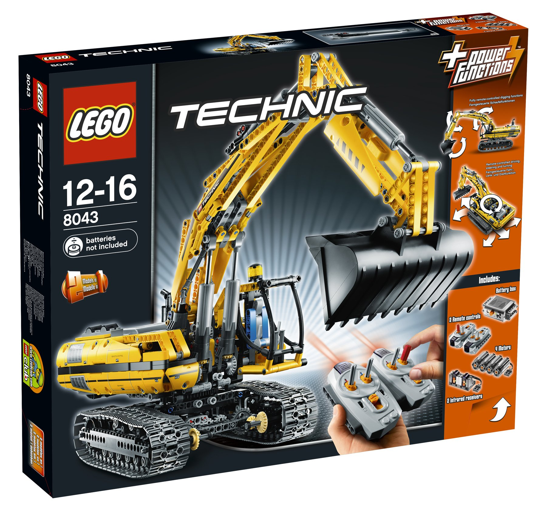 lego technic 8043 une pelleteuse excavatrice r ussie. Black Bedroom Furniture Sets. Home Design Ideas
