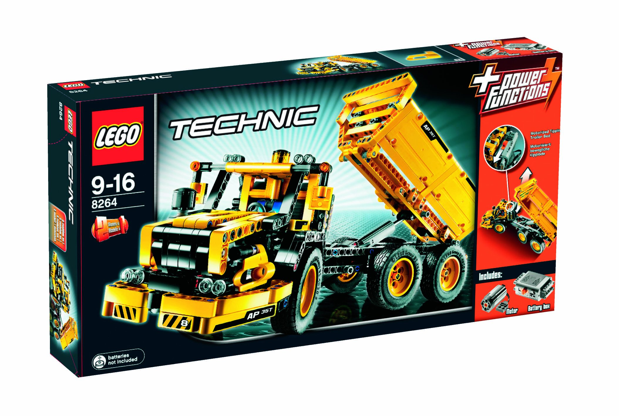 lego technic 8264 le camion benne de chantier convertible. Black Bedroom Furniture Sets. Home Design Ideas
