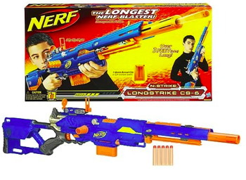 zoom sur le nerf longstrike le fusil longue port e des snipers nerf. Black Bedroom Furniture Sets. Home Design Ideas
