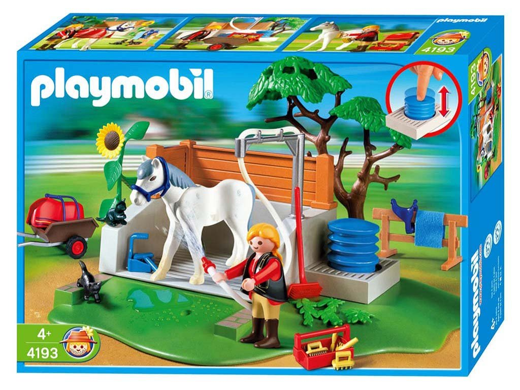 centre equestre playmobil un set pour les cavaliers et. Black Bedroom Furniture Sets. Home Design Ideas