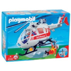 helicoptere sauveteur playmobil 4222