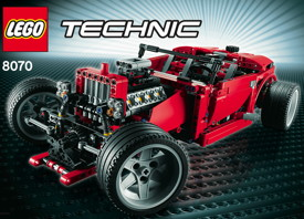 lego 8070 en mode hot rod