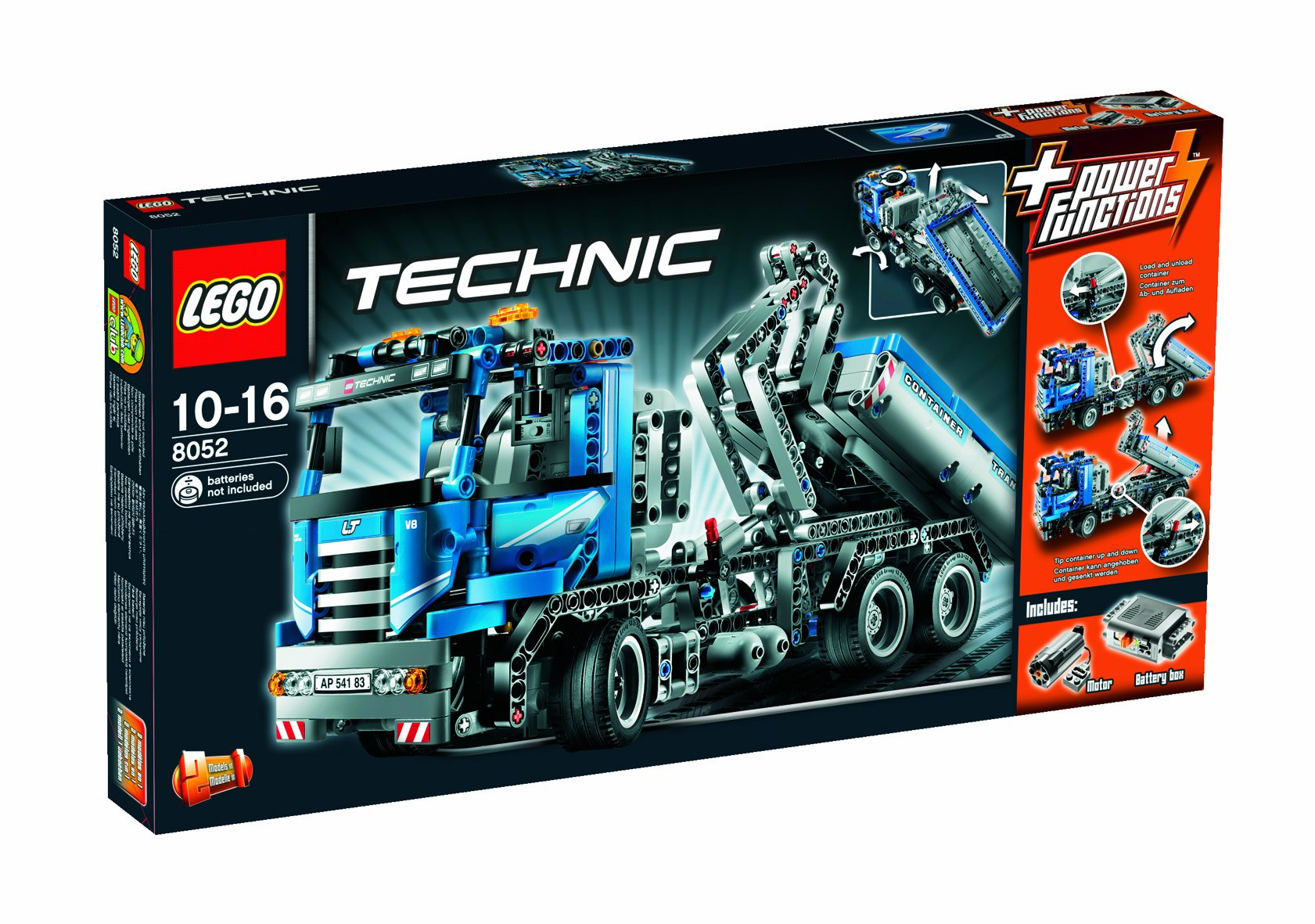 lego technic 8052 un camion conteneur transformable en camion benne. Black Bedroom Furniture Sets. Home Design Ideas