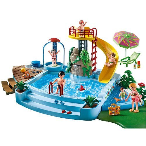 Tous en vacance avec le camping car playmobil for Piscine de playmobil